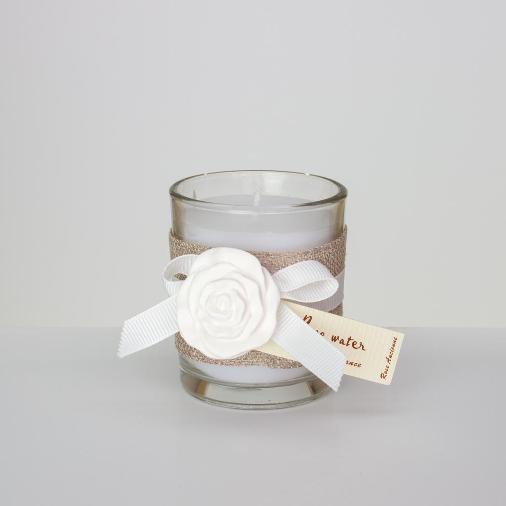 windlicht set 2 teilig aus glas mit duftkerze rose water. Black Bedroom Furniture Sets. Home Design Ideas